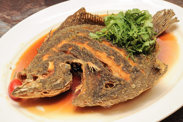Deep fried Turbot Fish