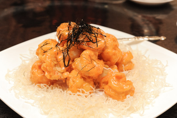Tiger Prawns with spicy mayo